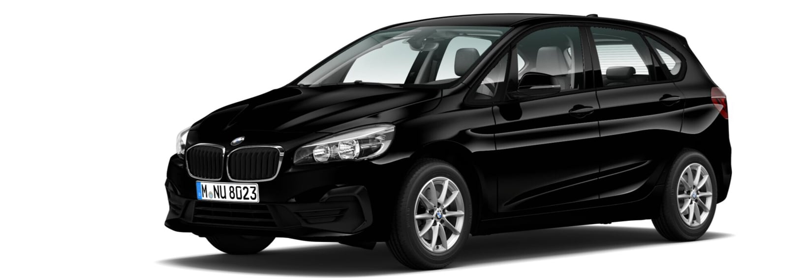 THE 2. BMW 2er Active Tourer. | BMW 216i Active Tourer, Schwarz uni, Stoff 'Grid' Anthrazit