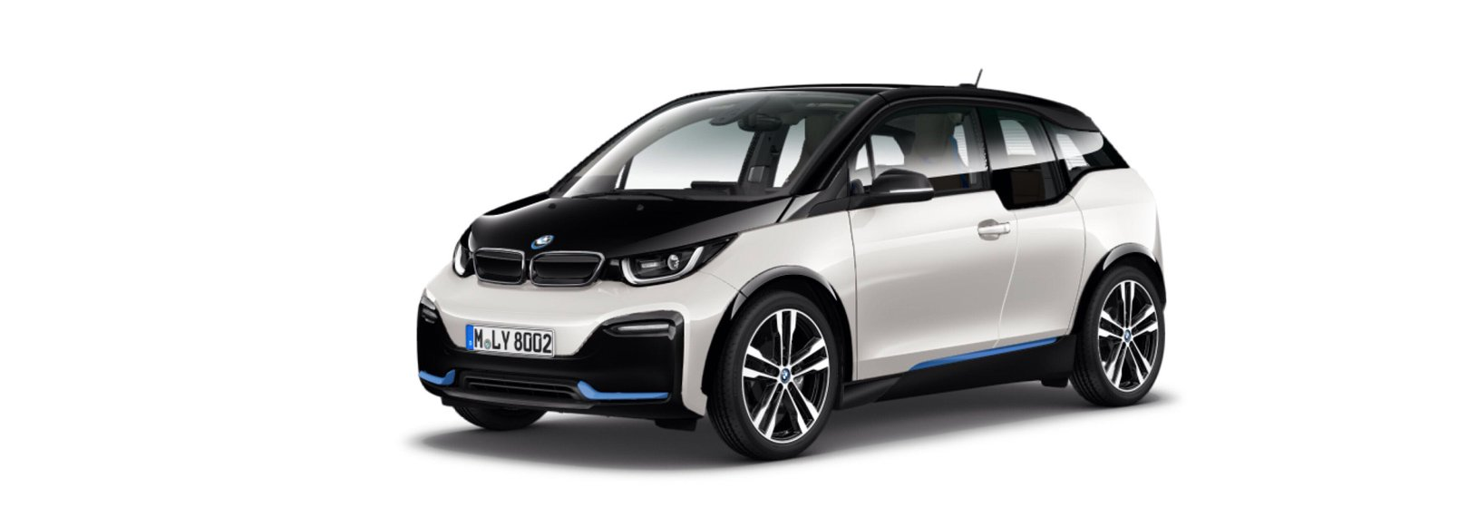 bmw i3s aussenfarbe cappariswei mit akzent bmw i blau. Black Bedroom Furniture Sets. Home Design Ideas